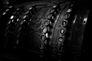 antique-cash-register-black-and-white-photography